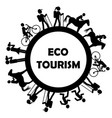 eco tourism icon vector image