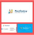 emoji in hands logo design with tagline front vector image