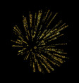 explosion gold christmas vector image