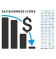 Financial Epic Fail Icon with Flat Set vector image vector image
