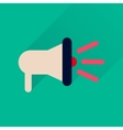 Flat icon with long shadow loudspeaker sound vector image vector image