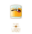 funny whiskey glass character isolated on vector image