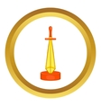 Golden sword award icon vector image vector image