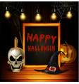 halloween pumpkin realistic with heat isolated on vector image