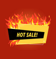 hot sale banner offer fire flames discount vector image