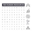 human resources editable line icons 100 vector image vector image