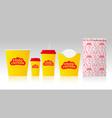 identity fried chicken fast food restaurant vector image