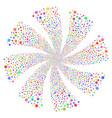 internet fireworks swirl flower vector image vector image