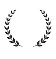 laurel wreath isolated on white background vector image