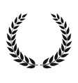 laurel wreath isolated vector image