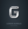Letter G elegant silver font Template for company vector image