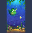 loading screen on background underwater vector image vector image