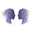 Man and woman head icons Psychology concept vector image vector image