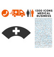 medical visor icon with 1300 medical business vector image vector image