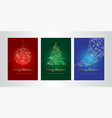 merry christmas greeting card template set vector image