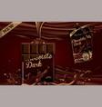 mockup advertising chocolate a bar of dark vector image vector image