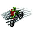 motocross rider ride motocross bike vector image vector image