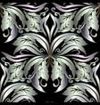 ornate 3d baroque seamless pattern floral vintage vector image vector image