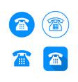 phone icon four variants classic symbol icon vector image