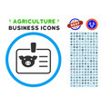pig badge rounded icon with set vector image vector image