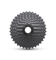 realistic bike cassette vector image vector image