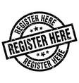 register here round grunge black stamp vector image vector image