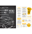 Restaurant cafe menu template design Food flyer vector image vector image
