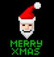 retro arcade pixel art santa vector image vector image