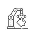 robotic hand manipulator industrial mechanical vector image vector image