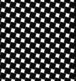 Seamless black and white angular square pattern vector image vector image