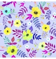 Seamless floral background Isolated watercolor vector image vector image