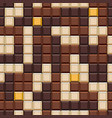 seamless pattern with tetris made chocolate vector image vector image