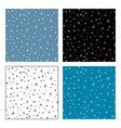 seamless patterns of stars on dark and light vector image