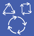 set of arrow 8 vector image vector image