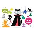 Set of halloween costume characters vector image