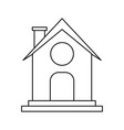 small house with chimney icon image vector image vector image
