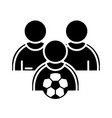 soccer game team players and ball league vector image vector image