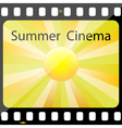 Summer Cinema vector image vector image