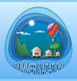 summer vacation logo template sea resort with vector image vector image