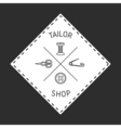 Tailor badge emblem vector image vector image