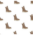 tall winter boots made of wool with velcro shoes vector image vector image