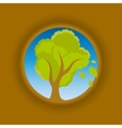 Tree in circle vector image vector image