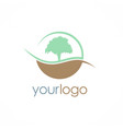 tree nature logo vector image vector image