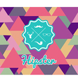 Trendy retro Hipsters label icons seamless pattern vector image vector image