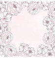 vintage delicate frame with flowers vector image vector image