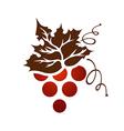 Vintage Grape Branch vector image vector image