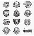 volleyball logo badge vector image vector image