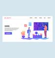 web site design template school education vector image vector image