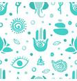 yoga and meditation seamless pattern ayurveda vector image