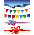 set with holiday design elements vector image